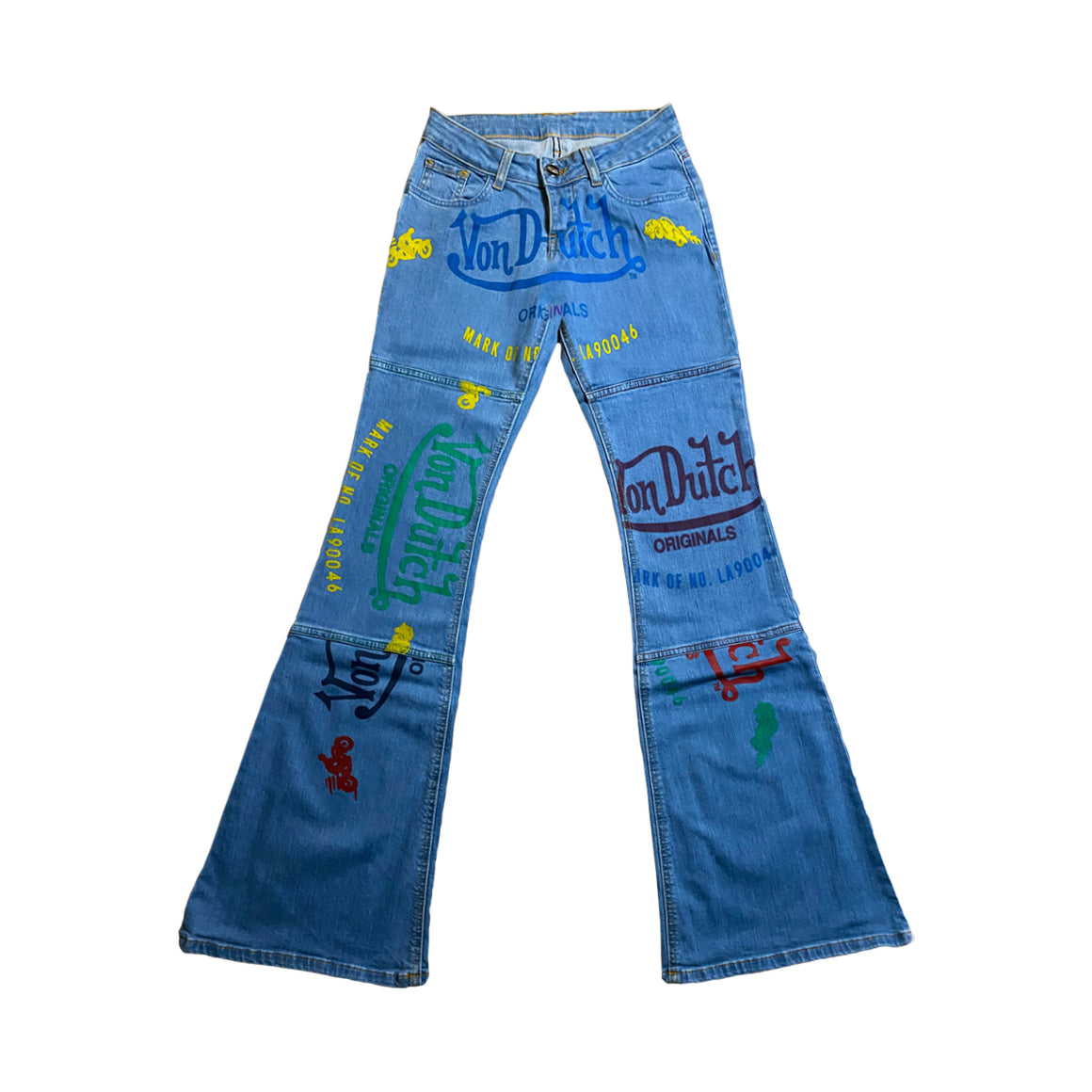 EXCLUSIVE PATCHWORK DENIM JEANS