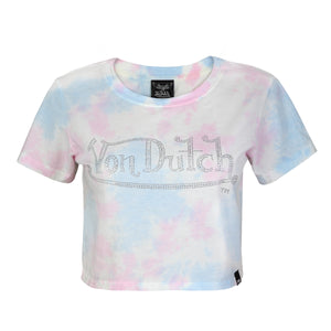 Cotton Candy Tie Dye Stone Crop Tee