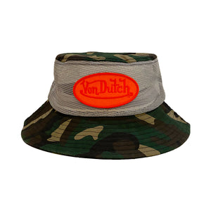 Von Dutch Green Camo Bucket Hat
