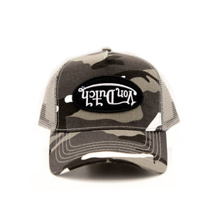 von dutch gray and white rambo camo Trucker Hat 2019