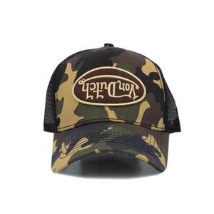 Brown and green rambo camo Von Dutch Trucker Hat 2019