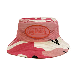 Von Dutch Pink Camo Bucket Hat