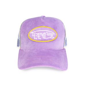 PURPLE VELVET TRUCKER