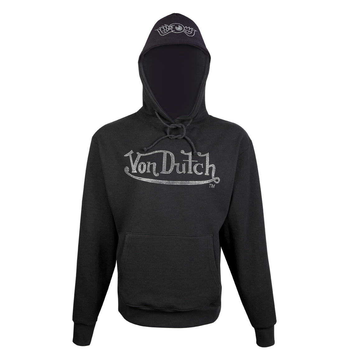 Hoodie Midnight with Clear Rhinestones