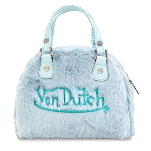 Blue Fur Von Dutch Small Bowling Bag