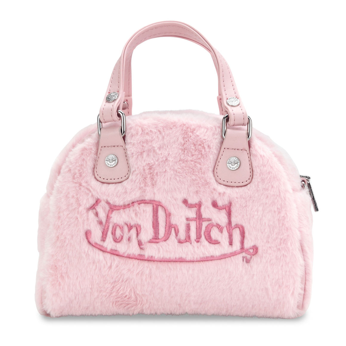 Pink fur Von Dutch Bowling Small Bag
