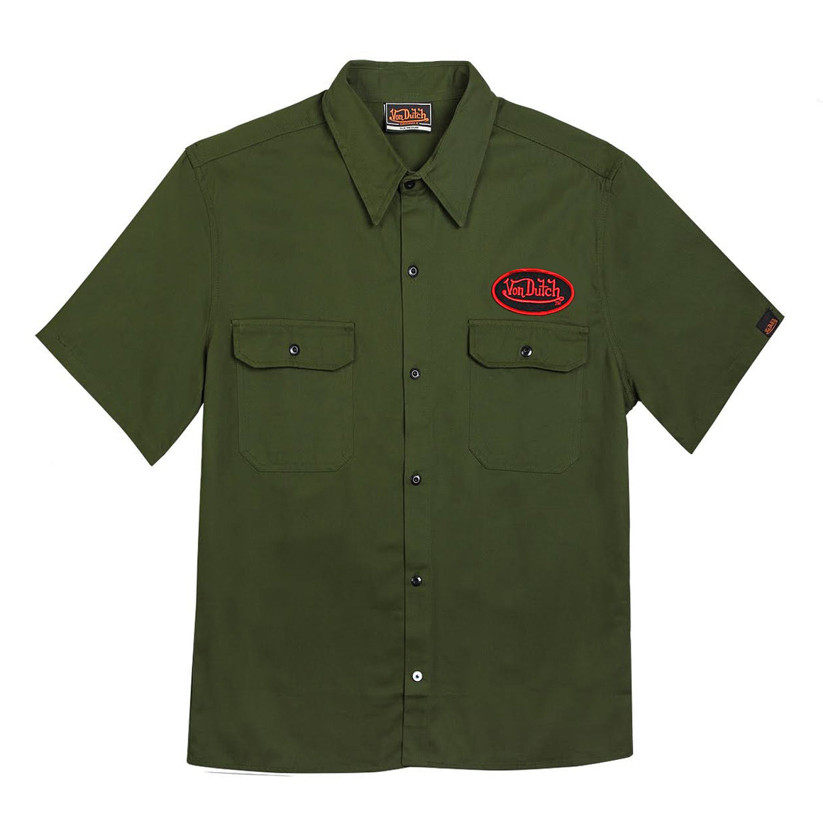 Von Dutch Army Green Mechanic Tee