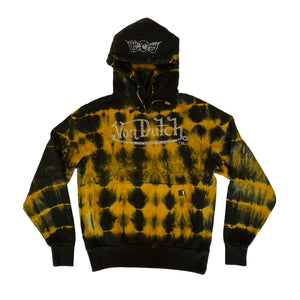 VON DUTCH GOLD/BLACK TIE DYE HOODIE