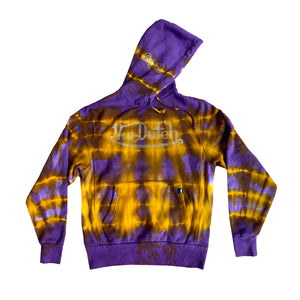 VON DUTCH PURPLE/GOLD TIE DYE HOODIE