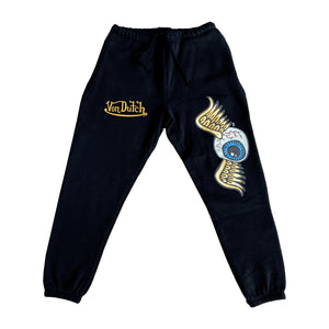 Von Dutch Black Flying Eyeball Jogger