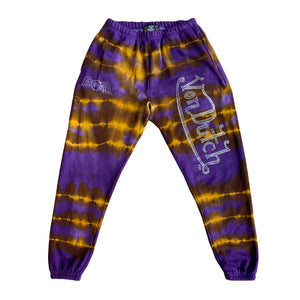 VON DUTCH PURPLE/GOLD TIE DYE JOGGERS