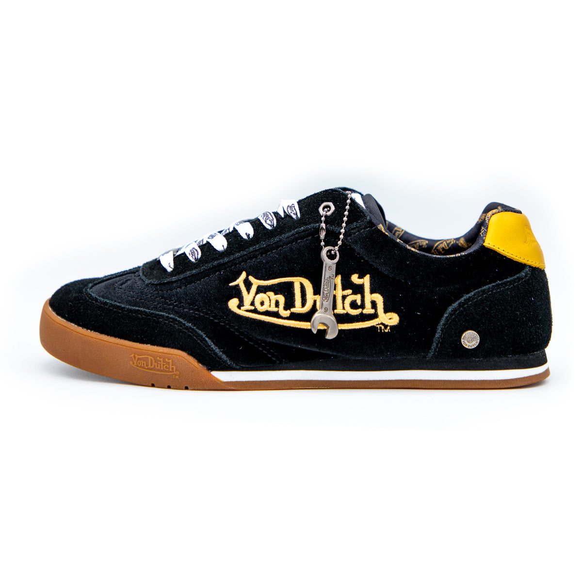 Men's Velvet Vanderdutch Sneaker Black & Gold