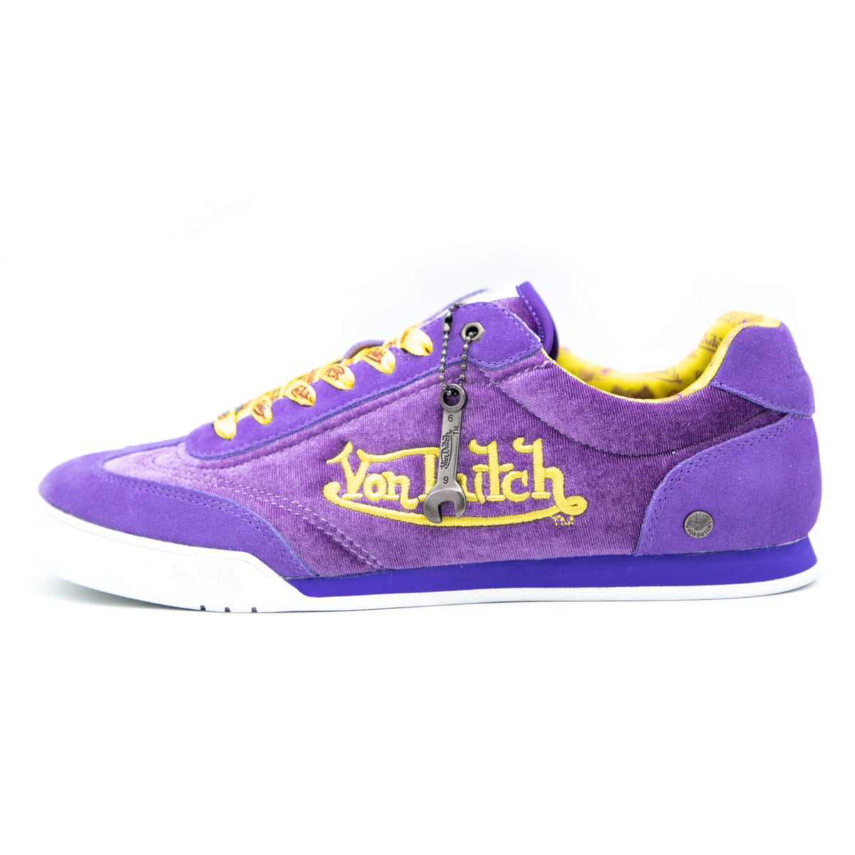 mens purple and gold sneakers