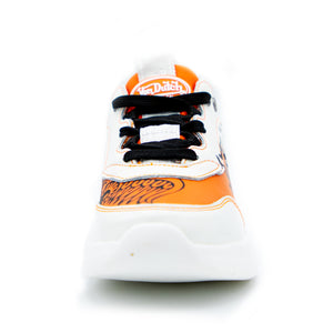 Women's Orange & White Fairfax Sneaker