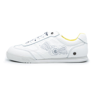 Little Kid's Leather Ken Sneaker Yellow & White