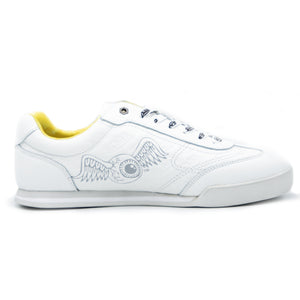 Big Kid's Ken Sneaker Yellow & White