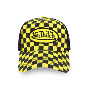 BLACK/YELLOW CHECKER TRUCKER