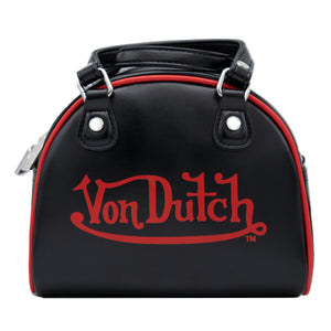 New Black & Red  Von Dutch Bowling Small Bag