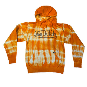 ORANGE/CREAM TIE DYE-VON DUTCH HOODIE