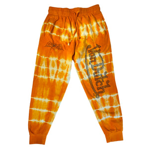 ORANGE/CREAM TIE DYE-VON DUTCH JOGGER