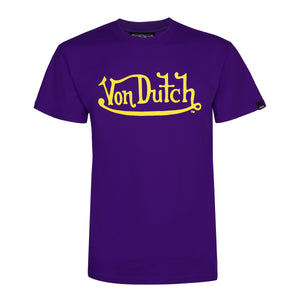 Purple With Gold Classic Wordmark Tee