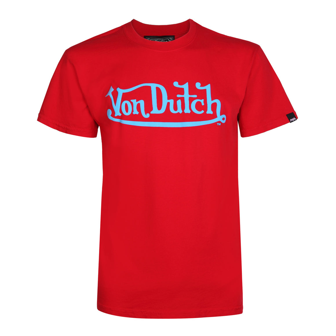 Red With Turquoise Classic Wordmark Tee