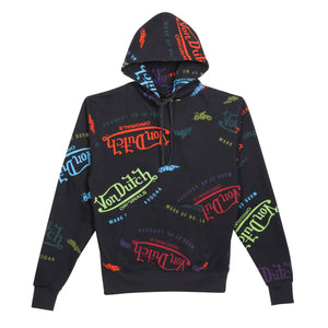 Hoodie All Over Print Black