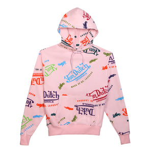 Hoodie All Over Print Pink