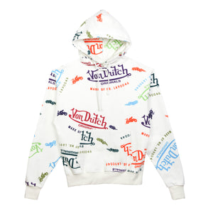 Hoodie All Over Print Bone
