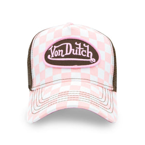 PINK/WHITE CHECKER TRUCKER