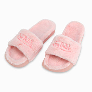 VON DUTCH PINK FUR SLIDE (Women's)