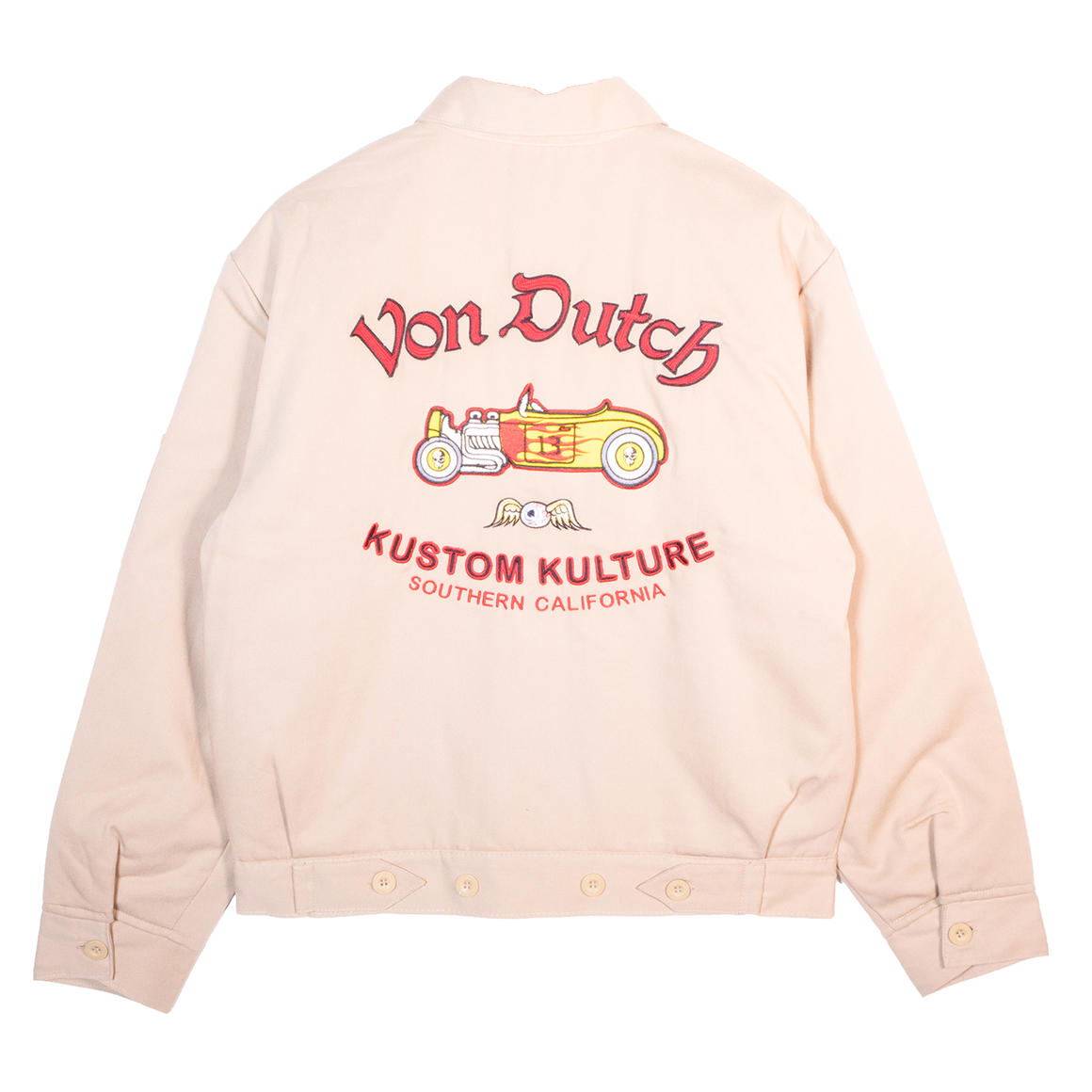 VINTAGE & CLASSIC GAS STATION JACKET CREAM