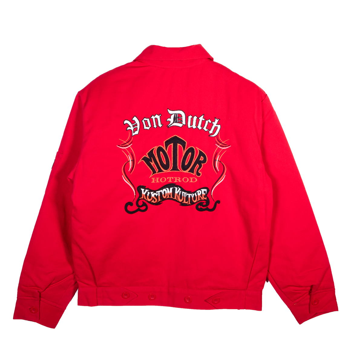 VINTAGE & CLASSIC GAS STATION JACKET RED