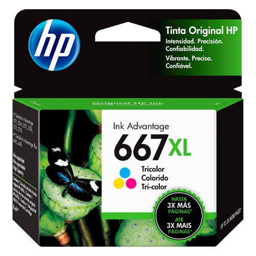 HP 667 Tinta Cartucho Color Xl