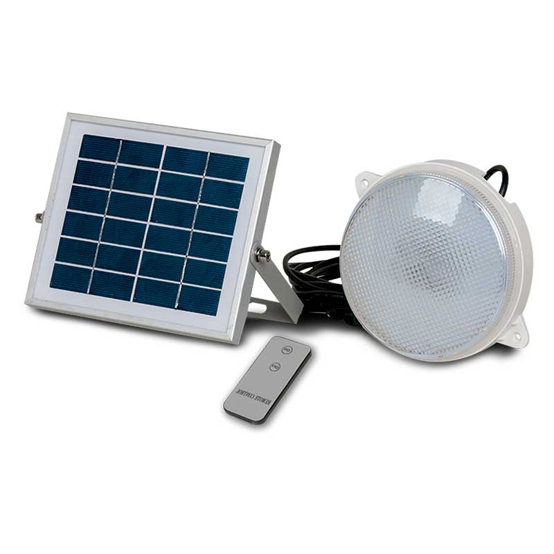 Light Source Lampara Comercial LED Solar Kit 6V 6K SLK03-12W