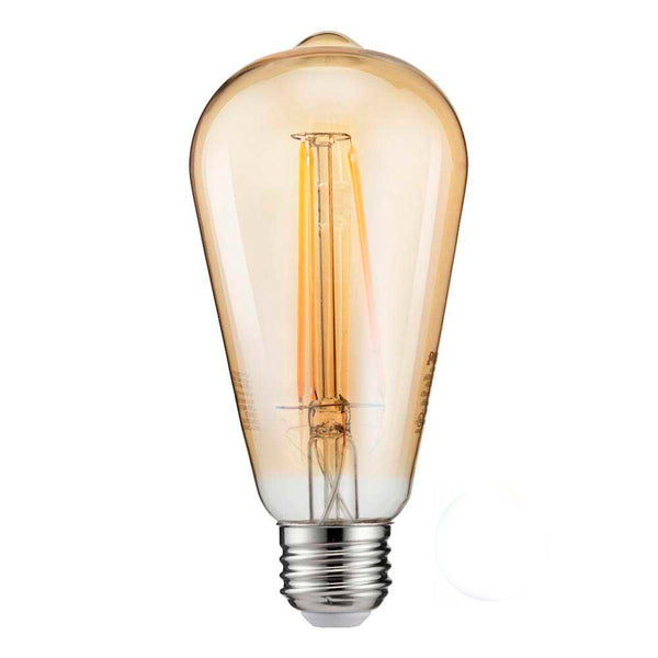 Philips Bombillo LED Luz Blanca Vintage Amber A19 4.5W Dim