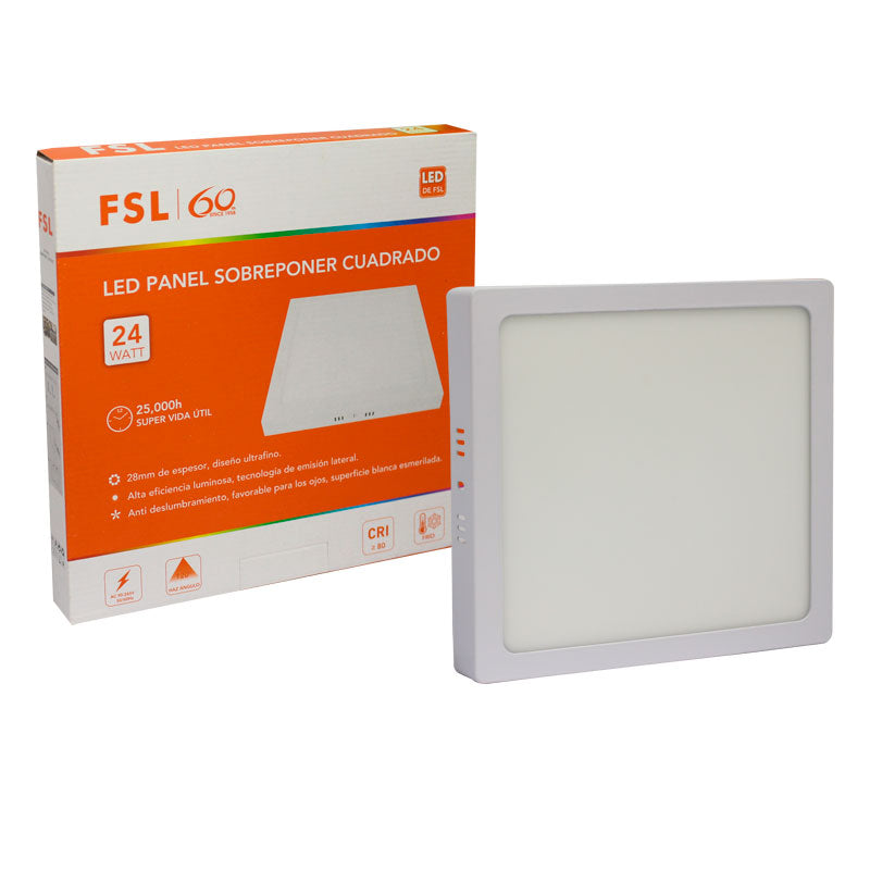 Fsl Lampara Comercial LED Panel Sup 24W 6500K