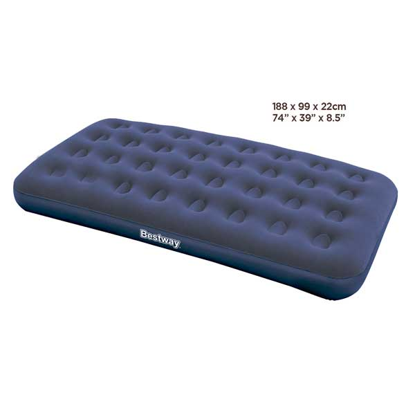 Colchón inflable Air Bed Flocked twin 67001 capacidad de peso de 150 kg Bestway