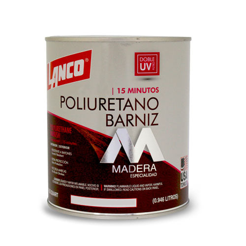 Lanco Barniz Transparente Mate 1/4 Galon