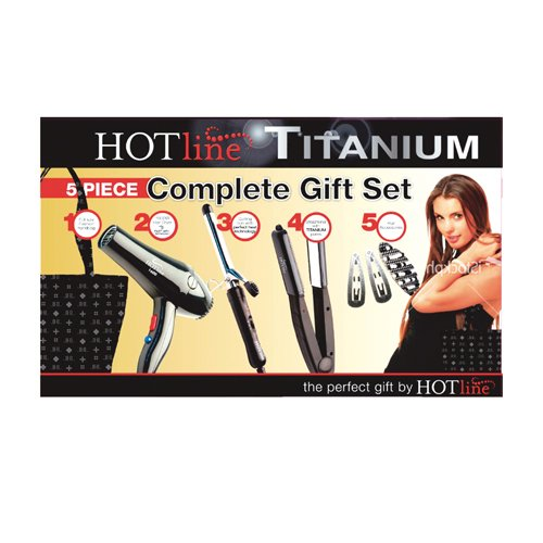 Hotline Plancha Cabello Domesitca Hlgf011 Negro Set 5 Piezas Blower 1600 Watts P