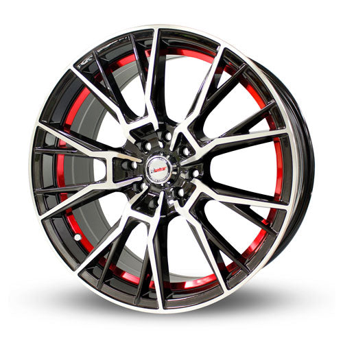"Rin 17"" D-5254 17X7.5 38 8H Mc+Bk+Red"