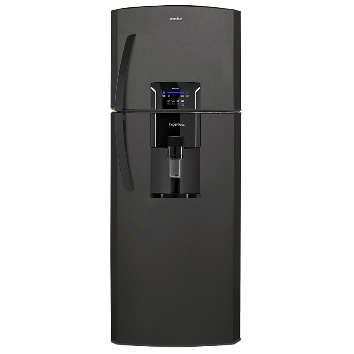 Refrigerador Top Mount, de 11 cu. ft de capacidad, color negro, marca Mabe