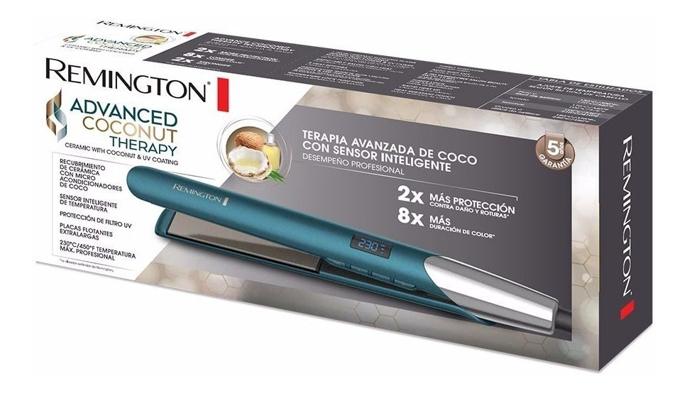 Plancha alisadora S8607  Advanced Coconut Therapy Remington