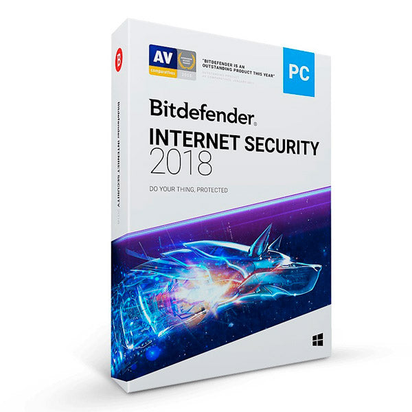Bitdefender Internet Security Software Antivirus 1 Usuario 1 Año