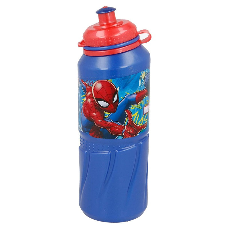 Botella de plástico con capacidad de 530 ml de Spiderman