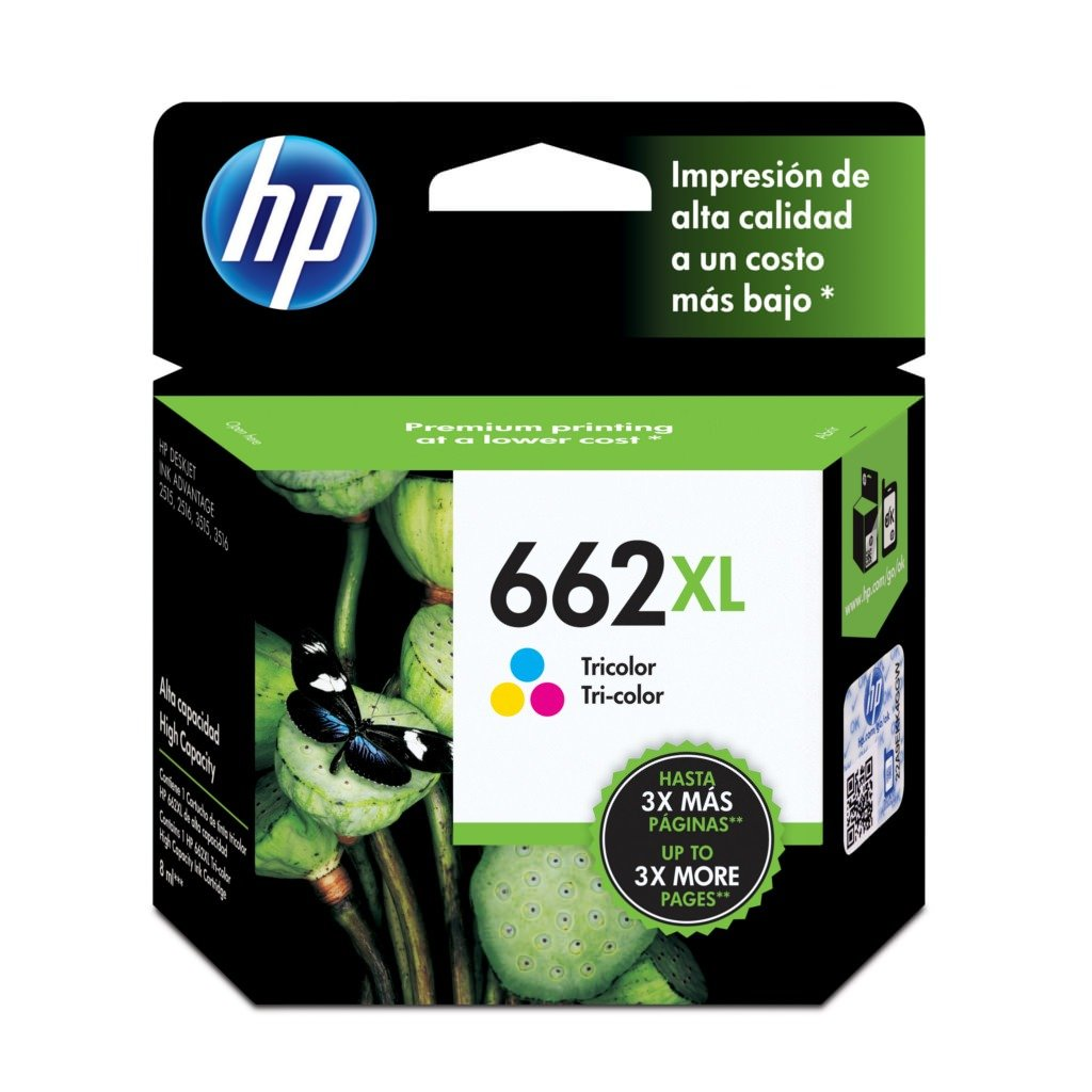 HP 662 Tinta Cartucho Color Xl