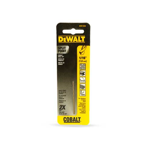 Dewalt Brocas Metal 1/16""