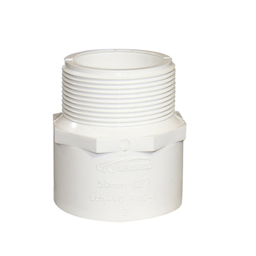 Adapter macho pvc 4""