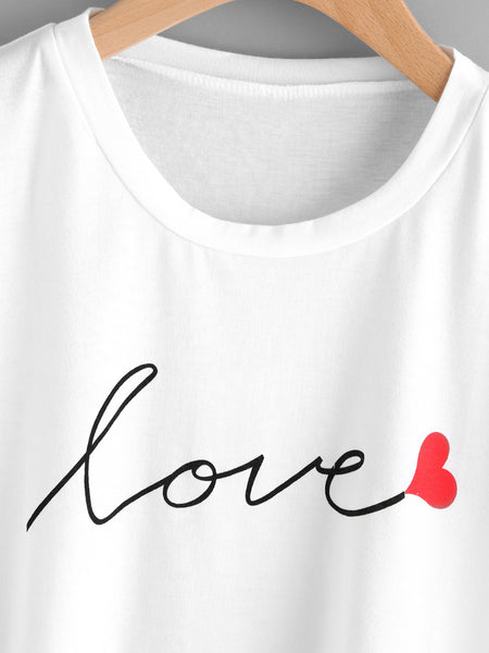 T-shirt Estampado ″Love″