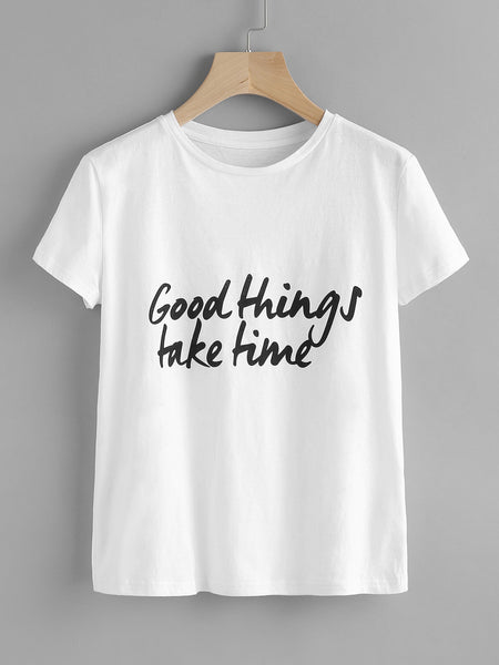 T-shirt ″Good Things Take Time″